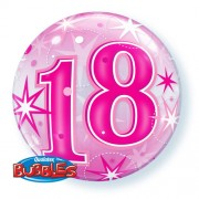 18 Pink Starburst Bubble Balloon £7.99