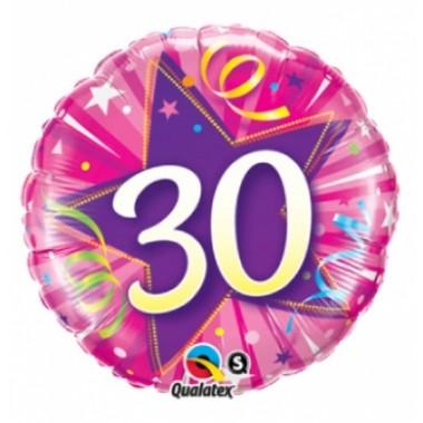 30 Star Hot Pink Foil Balloon  £4.00