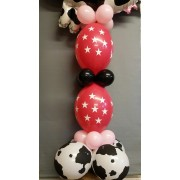 Column with 2 Linking Balloons  £10