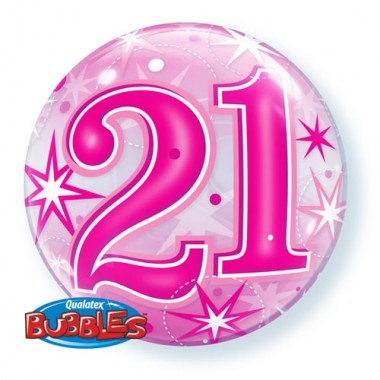 21 Pink Starburst Bubble Balloon £7.99