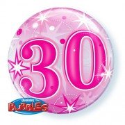 30 Pink Starburst Bubble Balloon £7.99