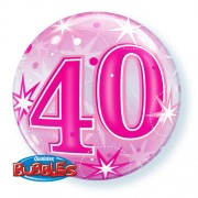 40 Pink Starburst Bubble Balloon £7.99
