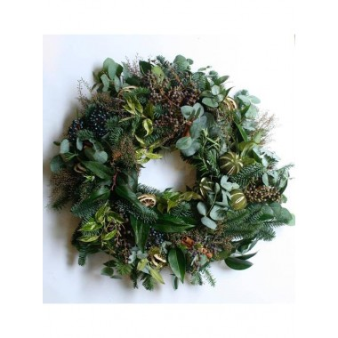 Wreath with Mixed Foliages - From £20