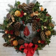 Luxurious Door Wreath - A Warm Welcome