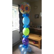 Column bubble with linking balloons  from £18