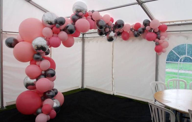 arch-pink-silver-organic-balloons-latex-crewe-nantwich-cheshire
