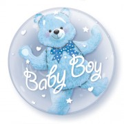 Baby Boy Double Bubble Balloon  £10.99
