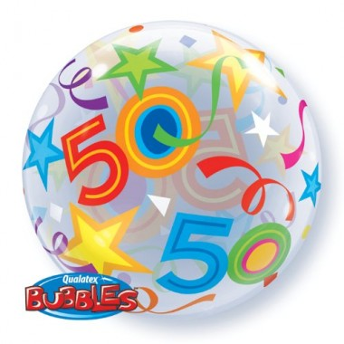 50 Brilliant Stars Bubble Balloon £7.99