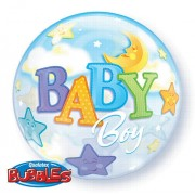 Baby Boy Moon and Stars Bubble Balloon £7.99