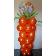 Carrot with rabbit bubble balloon  £35