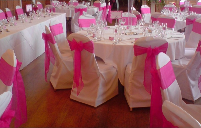 chair cover pink