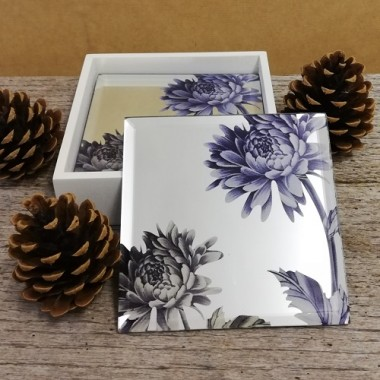 Set of 4 mirror coasters (blue) £6.50