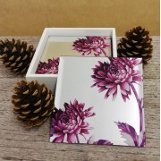 Set of 4 mirror coasters (pink) £6.50