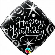 Happy Birthday Sparkles & Swirls Foil Balloon  £4.00