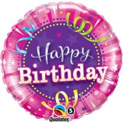 Happy Birthday Hot Pink Foil Balloon  £4.00