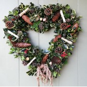 Luxurious Door Wreath - Home is where the Heart is