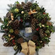 Luxurious Door Wreath - Natural Opulance