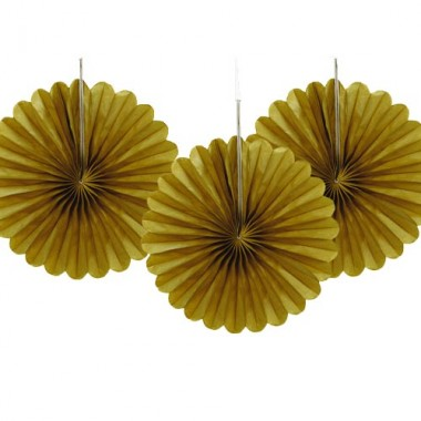 Decoration Paper Fans 3 Pack  £1.80