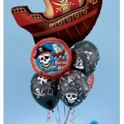Pirate Ship with Foil and Latex Bouquet £27