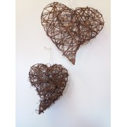 Rustic - Hanging Hearts