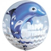 Sea Double Bubble Dolphin Happy Birthday £9.99