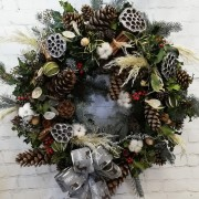Luxurious Door Wreath - White Christmas